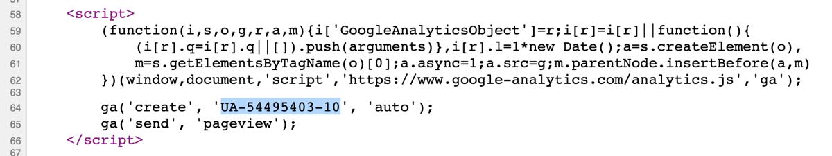 Google Analytics kód